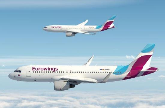 Η Eurowings εγκαινιάζει 16 νέα δρομολόγια προς Ελλάδα