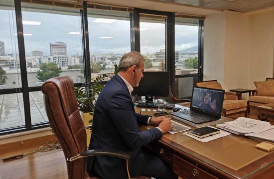 O Γ.Γ. του ΕΟΤ σε τηλεδιάσκεψη του WTTC