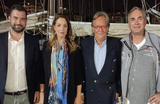Η Άντζελα Γκερέκου στην τελετή λήξης του Rose of Charity Sailing Cup 2019