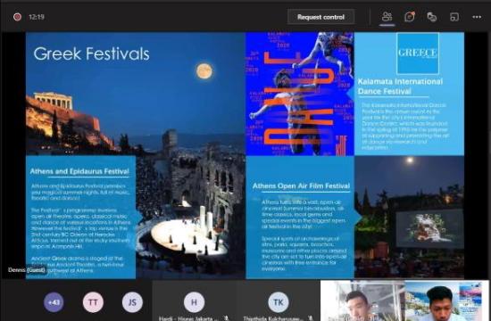 ΕΟΤ Κίνας: Webinar παρουσίασης της Ελλάδας σε ταξιδιωτικά πρακτορεία της Ν.Α. Ασίας