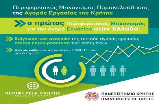 Η Περιφέρεια Κρήτης αξιοποιεί τα ευρήματα του Μηχανισμού Παρακολούθησης Αγοράς Εργασίας στη Μεγαλόνησο