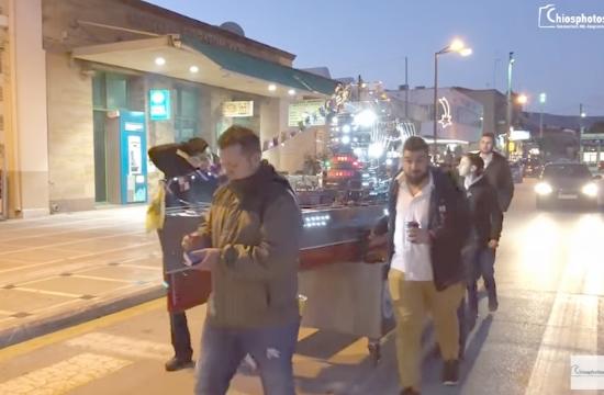 Εντυπωσίασαν τα Αγιοβασιλιάτικα καραβάκια στη Χίο