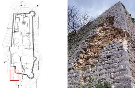 Σοβαρές ζημιές στο κάστρο της Κιάφας από τον σεισμό