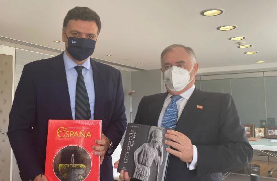 Συνάντηση Βασίλη Κικίλια με τον Πρέσβη της Ισπανίας