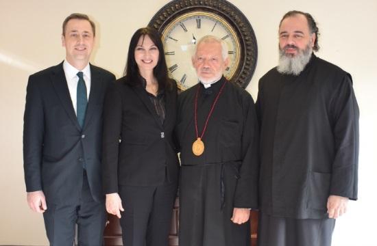 Συνάντηση Κουντουρά με το Σεβασμιότατο Μητροπολίτη Τορόντο κ. Σωτήριο