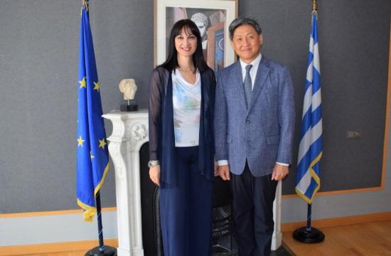 Συνάντηση Ε. Κουντουρά με τους πρέσβεις της Κορέας και του Λιβάνου