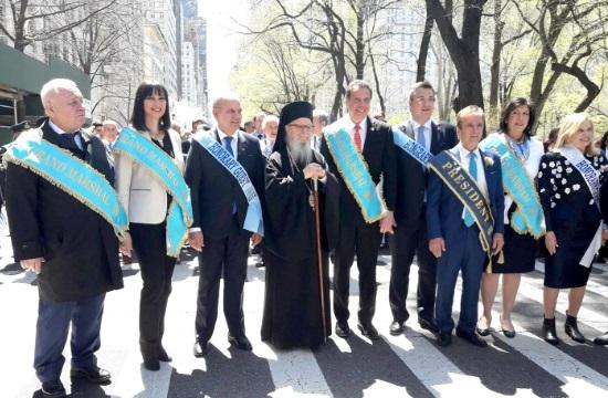 Η Ελ. Κουντουρά στις εορταστικές εκδηλώσεις για την 25η Μαρτίου στη Νέα Υόρκη