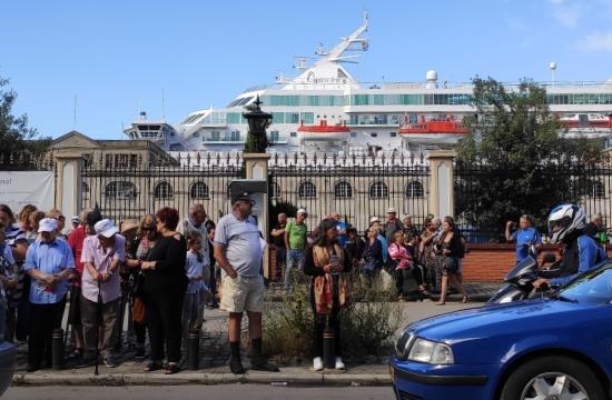 Πάνω από 1.600 τουρίστες στη Θεσσαλονίκη με το κρουαζιερόπλοιο Crown Iris