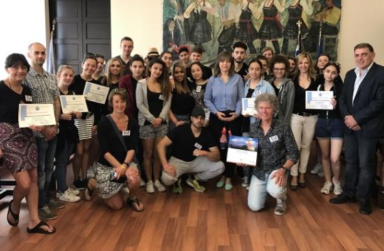 Επίσκεψη μαθητών από το Βέλγιο στο δήμο Ρόδου
