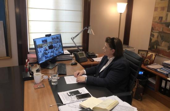 Προτάσεις Λ. Μενδώνη στην τηλεδιάσκεψη των Υπουργών Πολιτισμού της ΕΕ