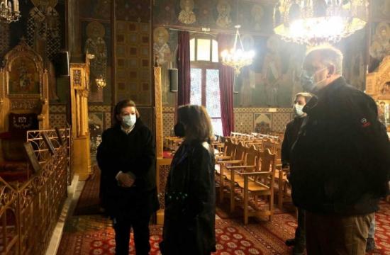 Αυτοψία Μενδώνη στο «νεοβυζαντινό» ναό του Αγίου Χαραλάμπους στο Πεδίο του Άρεως
