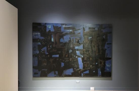Ο πίνακας «Βυθισμένη Πολιτεία» του Γ. Μόραλη, ιδιοκτησίας  ΕΤΑΔ, σε έκθεση στο Μουσείο Μπενάκη