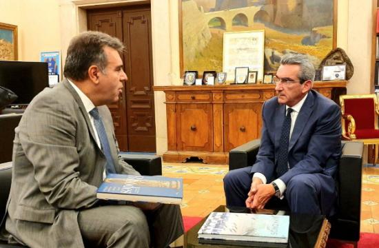 Συνεργασία του Περιφερειάρχη N. Αιγαίου με τον υφυπουργό Τουρισμού Μ. Κόνσολα