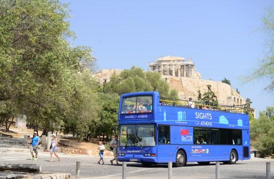 Νέα διαδρομή ανοιχτού τουριστικού λεωφορείου στην Αθήνα
