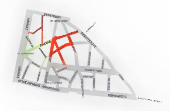 4 νέοι πεζόδρομοι στο Εμπορικό Τρίγωνο της Αθήνας