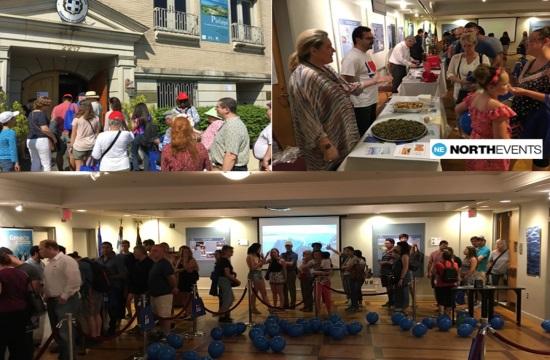 Πλήθος Αμερικανών στην ελληνική πρεσβεία για την εκδήλωση EU OPEN HOUSE Day