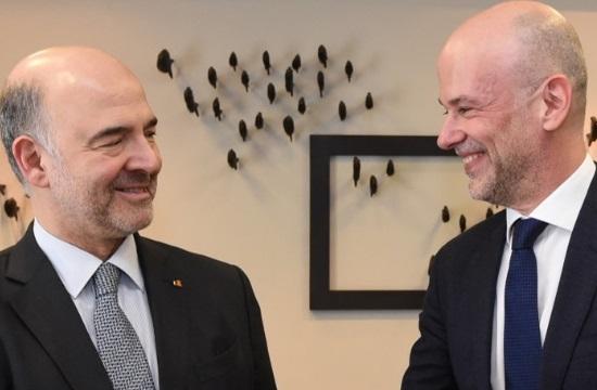 Συνάντηση με τον Ευρωπαίο επίτροπο Πιερ Μοσκοβισί