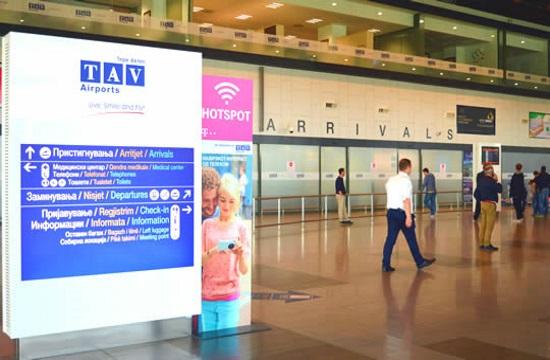 Αύξηση των επιβατών στα αεροδρόμια της Βόρειας Μακεδονίας στο 6μηνο