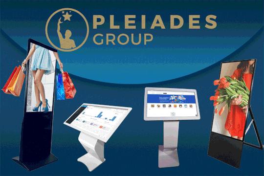 Pleiades - Group: Επαναστατική σειρά οθονών αφής ή οθονών No Touch για επαγγελματική χρήση