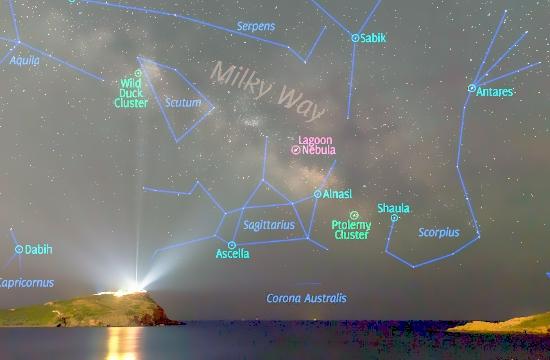 """Ο Ναός του Ποσειδώνα στο Σούνιο στην """"Αστεροφωτογραφία της Ημέρας"""" της NASA"""