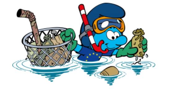 Η ΕΕ, τα Ηνωμένα Έθνη και τα... Στρουμφ καθαρίζουν τις ακτές - Πρώτη στάση η Θεσσαλονίκη