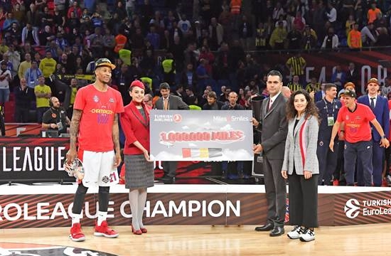 "Turkish Airlines: O Kyle Hines ""Flight Time Champion"" του Final 4"