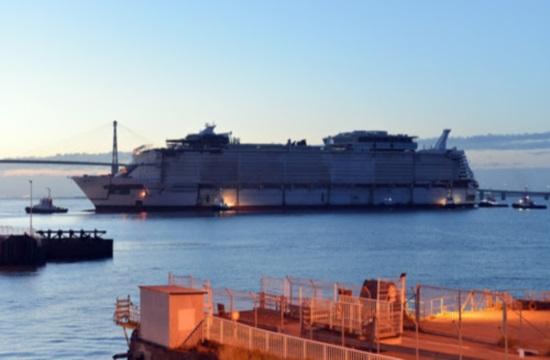 Ετοιμάζεται το νέο κρουαζιερόπλοιο Symphony of the Seas