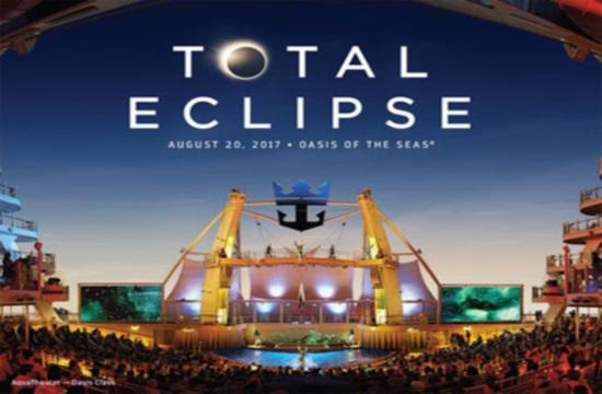 Το συγκρότητα DNCE στο Oasis of the Seas για τον εορτασμό της ολικής έκλειψης ηλίου