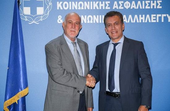 Συνάντηση Βερνίκου-Βρούτση: Στενή συνεργασία Ο.Κ.Ε - Υπουργείου Εργασίας