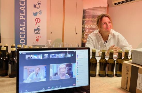 Με επιτυχία πραγματοποιήθηκε η πρώτη διαδικτυακή γευσιγνωσία του Wines of Crete