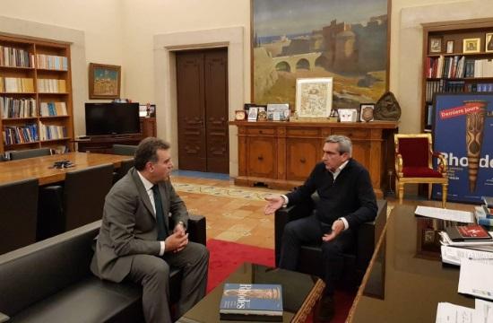 Συνεργασία Γ. Χατζημάρκου- Μ. Κόνσολα για τον Τουρισμό στο Ν. Αιγαίο