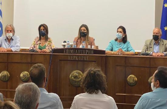 Επίσκεψη της Υφυπουργού Τουρισμού Σ. Ζαχαράκη στην Κέρκυρα