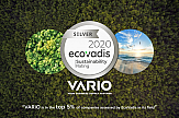 Η VARIO διακρίθηκε με Silver Award από την EcoVadis για τις κοινωνικές πρακτικές της σχετικά με θέματα αειφορίας και βιώσιμης ανάπτυξης.