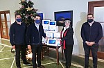 Οι κ.κ.Αλέξανδρος Χανδρής και Νικόλας Χαραλάμπους, Πρόεδρος, Διευθύνων Σύμβουλος και ιδρυτής της Hellenic Seaplanes