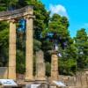 Αρχ. Ολυμπία: Αποδόθηκε ο αναστηλωμένος κίονας του μνημείου των Πτολεμαίων