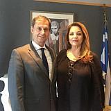 Συνάντηση Χ. Θεοχάρη με την πρόεδρο του ΕΟΤ Α. Γκερέκου