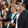 Φωτογραφία αρχείου. Από αριστερά: Νίκος Μπορνόζης, Τζον Κουδούνης, Γιώργος Καμίνης, Ντιν Μητρόπουλος, Ντένις Mehiel, Γιώργος Λογοθέτης, Σπύρος Μυλωνάς, Δρ. Λάουρα Κάλαμος Νασίρ, Tζον Κάλαμος και Ολγα Μπορνόζη, αντιπρόεδρος της Capital Link.