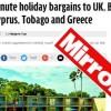 Sunday Mirror: H Κρήτη και τα κατεχόμενα της Κύπρου στις «ευκαιρίες» διακοπών τελευταίας στιγμής