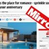 Η Μirror προβάλλει τη Ρόδο ως ρομαντικό προορισμό για ζευγάρια
