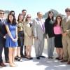 H υπουργός Τουρισμού, Έλενα Κουντουρά, ο γ.γ. Τουριστικής Πολιτικής και Ανάπτυξης Γ.Τζιάλλας, η Αντιπρόεδρος του ΕΟΤ Αγγελική Χονδροματίδου, η CEO της Crystal Cruises Edie Rodriguez και ο CEO της Navigator Travel & Tourist Services Ανδρέας Στυλιανόπου
